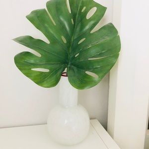 Beautiful white glass vase